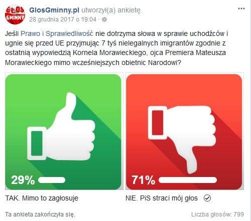 ankieta czy poprzesz PiS