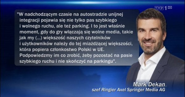 Instrukcja szefa Axel Springer