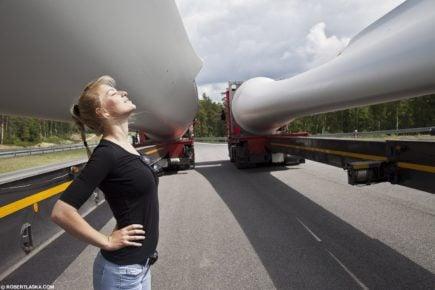 Iwona Blecharczyk-polska Trucking Girl, która kanadyjskim mrozom się nie kłania