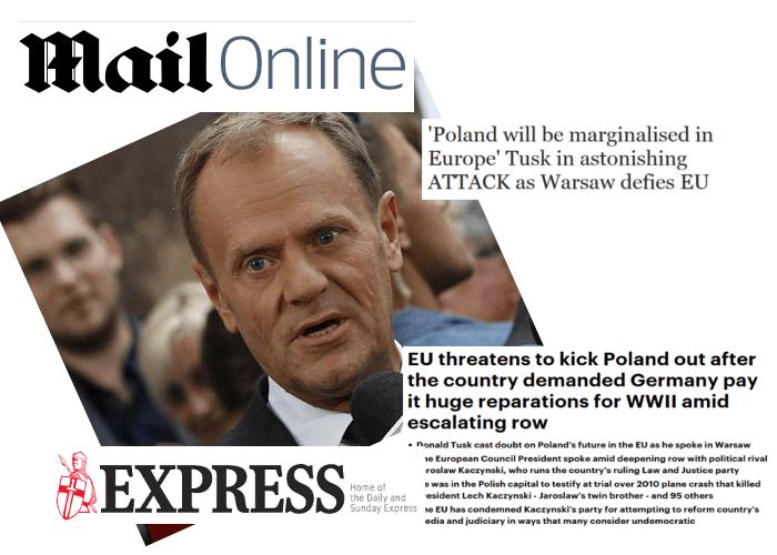 Tusk jako rzecznik Niemiec grozi Polsce