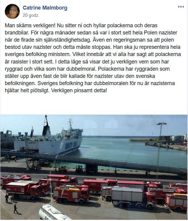 Ten szwedzki komentarz na temat polskich strażaków bije rekordy w sieci