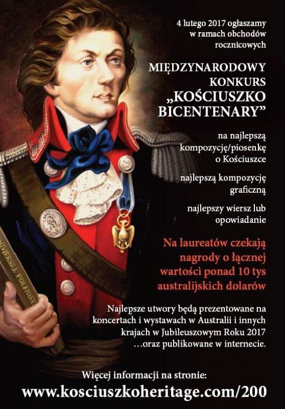 """W hołdzie Kościuszce – Konkurs """"Kościuszko Bicentenary"""""""
