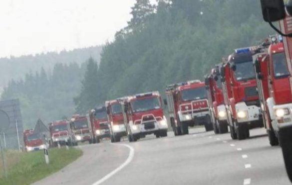 Szwedzkie społeczeństwo w szoku z powodu ogromnej pomocy polskich strażaków