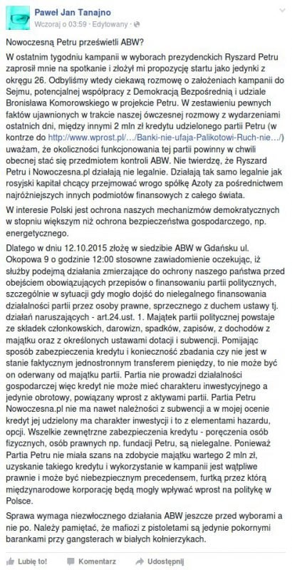 Nowoczesna.pl pod lupą służb specjalnych? Zawiadomienie do ABW!