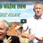 WAŻNE! Kaczyński dogadał się z globalistami i zarzyna polskie rolnictwo!