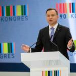Kongres 590. Obecny prezydent Andrzej Duda i premier Beata Szydło