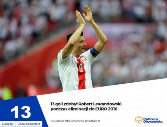 Skandal na linii Platforma Obywatelska - Robert Lewandowski