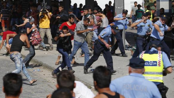 Zamieszki z udziałem imigrantów w Chorwacji